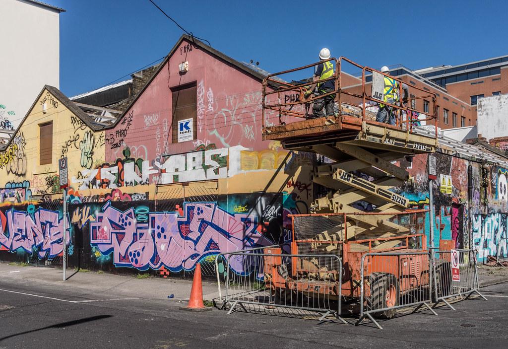 WINDMILL LANE STUDIO HAS BEEN DEMOLISHED { THE GRAFFITI WALLS ARE STILL STANDING] REF-103781