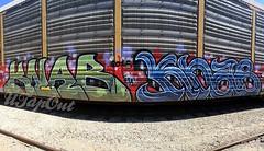 KNAB (UTap0ut) Tags: california art cali train bench graffiti la paint rail socal cal graff freight utapout