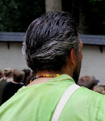 Maryland Renaissance Festival, 2012 (A CASUAL PHOTGRAPHER) Tags: men portraits hair beads festivals marylandrenaissancefestival crownsville mdrf backsofheads annearundelcounty bridgecameras canonpowershotsx20is