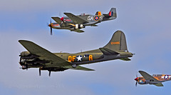 In close formation... (Ian A Photography) Tags: nikon aircraft aviation airshow b17 duxford mustang fighters warbirds flyingfortress aeroplanes bombers curtiss p51d northamerican warhawk warplanes flyinglegends p40f historicaircraft duxfordlegends