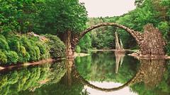 O (Philipp Götze) Tags: bridge panorama landscape basalt lausitz kromlau rakotzbrücke
