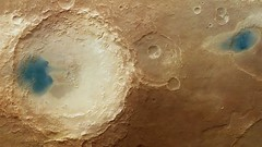 The effect of the winds of Mars (europeanspaceagency) Tags: crater redplanet hrsc marsexpress arabiaterra