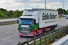 Eddie Stobart 'Kay' (stavioni) Tags: truck motorway m1 kay lorry eddie trailer scania esl spotter g400 stobart pe60ocg l7476