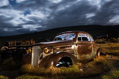 Most photogenic 1937 Chevy (Aztravelgrl (Forgotten Places Photography)) Tags: california nightphotography usa abandoned lowlight chevy bodie 1937 bodieghosttown