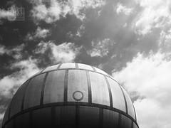 ufo ? (Katerina Vodrazkova Photography) Tags: blackandwhite bw architecture prague praha czechrepublic architektura metalball gassholder plynojem openhouseprague