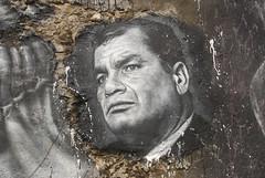 Rafael Correa, painted portrait _DDC2295