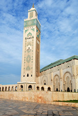 Hussain II mosque 2 (PhillMono) Tags: travel art heritage history architecture nikon worship place minaret faith religion mosque tourist morocco ii casablanca dslr hussain d7100