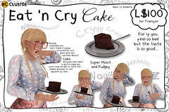 -RC- Eat 'n Cry Cake (-RC- Cluster) Tags: cake food chocolate fudge chocolatecake frosting sad crying cry emotion emotional emo tears sadness death upset gift gifts getwell dessert depression depressed help taste rc rccluster secondlife sl reddcolumbia funny fun