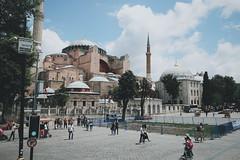 Istanbul, TUR (roman joe) Tags: city trip travel sea people color building bus cars architecture turkey landscape town cityscape fuji istanbul busride processed bosfor fujixe1