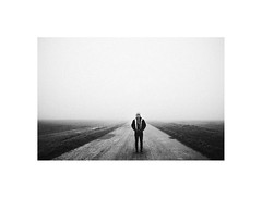 (Marek Pupk) Tags: portrait blackandwhite bw film nature monochrome fog analog canon landscape europe central documentary slovakia ilford