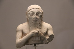 Stone Figure from Archaic Period of Sumer, 2900-2340 BC (Gary Lee Todd, Ph.D.) Tags: france louvre paris ancient neareast