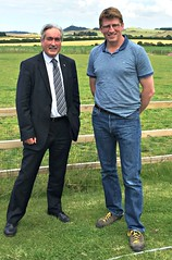 Meeting NFUS East Lothian Branch Chair Willie Thomson at his Wheatrig Farm