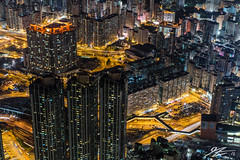 Artifice (Tim van Zundert) Tags: hong kong kowloon china yau ma tei city cityscape night evening long exposure sky100 international commerce centre icc buildings architecture roads light trails towers mountain sony a7r sel55f18z zeiss 55mm