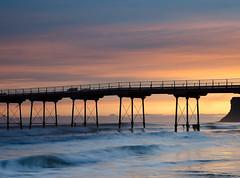 Dawn light at Saltburn (marrow62) Tags: pier seascape saltburn northyorkshire sea dawn wave