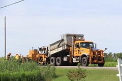 NYSDOT Manheim (1) (RyanP77) Tags: nysdot newyorkstatedepartmentoftransportation international mack granite plow snowplow snow larue blower dump truck dot new york viking cives henderson trucks trucking removal equipment