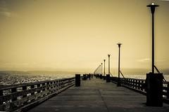 Berkeley Marina pier perspective (Fairwood Studio) Tags: seascape yellow architecture berkeley pier sillouette nautical