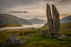 The Praying Hands of Mary, Glen Lyon (Katherine Fotheringham) Tags: praying hands mary glen lyon fionns rock sunrise scotland perthshire