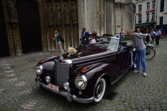 Admiring views  DST_7347 (larry_antwerp) Tags: cabrio mercedes 300sc roadster antwerp antwerpen       belgium belgi