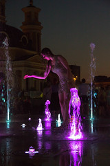Rise! Rise! (Roblawol) Tags: candid church easterneurope europe fountain kiev kyiv purple spontaneous spontinaity summer ukraine water wet woman