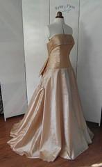 The Vintage Dress (Ryley & Flynn Vintage) Tags: vintage taffeta full length floor ball wedding dress silk