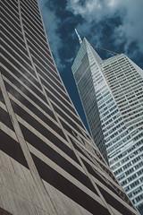 Grace vs Bank Of America (Kenny Rodriguez) Tags: kennyrodriguez streetphotography fujixpro1 newyorkcity gracebuilding bankofamericabuilding