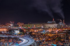Hidden City (karinavera) Tags: travel nikond5300 urban night favela argentina factory retiro buenosaires villa31 aerial cityscape industrial longexposure view city shantytown highway settlement buildings downtown lights microcentro community architecture skycrapers exclusive caba drone