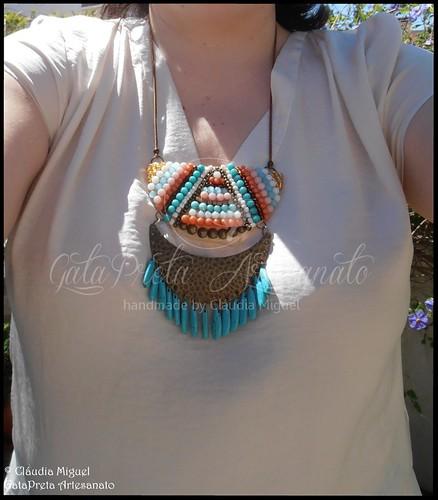 """Colar comprido """"Aztec"""" (colecção Primavera-Verão 2015)"""