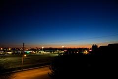 5am in saint thomas (thatgirlwiththekicks) Tags: morning blue red sky orange ontario canada silhouette sunrise lights bluehour stthomas 5am saintthomas sawn