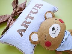 Enfeite para porta de maternidade (Meia Tigela flickr) Tags: bear handmade artesanato artesanal craft felt porta beb quarto nome feltro menino parede urso maternidade ursinho quartinho decoranao
