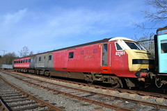 82101 - Barrow Hill (AJHigham) Tags: red black ex hill trains virgin vt barrow roundhouse dvt livery 82101