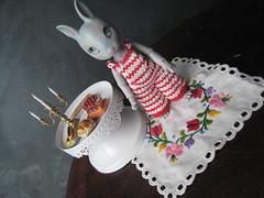 Hujoo Baby Bunny 1ere custo (alixir2.0) Tags: lapin hujoo rabbit grey gris bjd custom alixir bunny tiny faceup