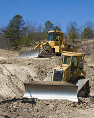 Sunlit CATs (Western Maryland Photography) Tags: cat maryland caterpillar soil bulldozer lavale lgp compactor alleganycounty canonefs1755mm28isusm canoneos7d d5n