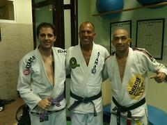 Seminario Con el Gran Maestro Royce Gracie en Barcelona 2013- Gonzalo- Royce Gracie e Cleyton Bastos