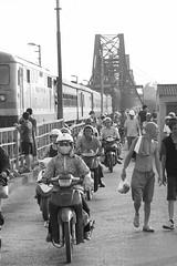 IMG_9930 (snowman_1793) Tags: life street bridge blackandwhite train walking vietnam hanoi blacknwhite longbien