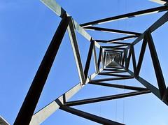 punto di fuga - escape's point (immaginaitalia) Tags: blue sky italy torino iron italia post blu piemonte cielo di electricity turin palo piedmont valleys elettricit ferro valli lanzo traliccio germagnano
