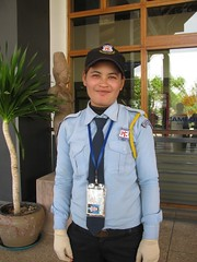 Kampuchean Security Officer (Asian.Amour2) Tags: blue woman cute sexy girl beautiful smile asian happy airport uniform asia cambodia pretty cambodian sweet gorgeous guard security cutie phnompenh brunette oriental lawenforcement kampuchea aeorport kampuchean