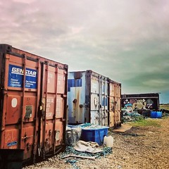 "A journey to the land of nowhere #dungeness #containers #hdr #red #sky #justgoshoot #photooftheday #picoftheday #beach #junk #fishnet #clouds • <a style=""font-size:0.8em;"" href=""http://www.flickr.com/photos/8364105@N02/17983742646/"" target=""_blank"">View on Flickr</a>"