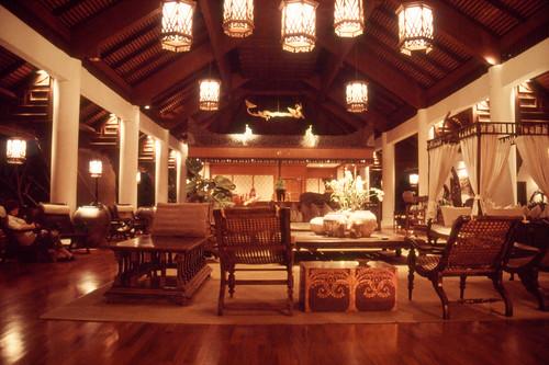 Reception at night