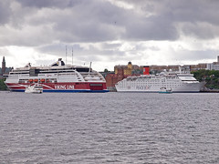 M/S Skrgrden, M/S Viking Grace, M/S Ocean Dream and M/S Emelie (Franz Airiman) Tags: cruise ship sweden stockholm balticsea baltic cruiseship scandinavia viking northerneurope vikingline oceandream vikinggrace