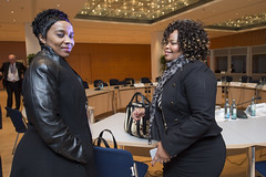 Lydia Sindisiwe Chikunga (left) attending the Ministers' Roundtable