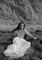 St.Stani (Eros.Brajko) Tags: sea blackandwhite male nature canon blackwhite model posing sheets whitesheet