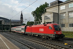 P2330651 (Lumixfan68) Tags: en u2 siemens eisenbahn taurus bb bundesbahn 182 zge 1116 sterreichische baureihe euronight eurosprinter es64 nachtzge