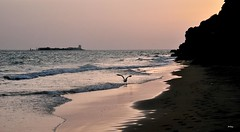 Sola (ZAP.M) Tags: sunset espaa beach atardecer mar andaluca nikon flickr paisaje reflejo cdiz lanscape chiclana zam nikond5300 mpazdelcerro