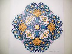 Sun Faces (Lynne M. B.) Tags: art illustration drawing coloring coloredpencils prismacolor coloringbook mandalas coloringadults