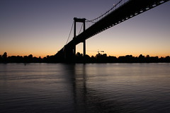 The bridge (Nadia L*) Tags: bridge sunset sun soleil pont coucherdesoleil pontdaquitaine lormont