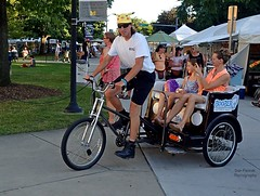 Boober Tours (FrogLuv) Tags: annarbormichigan summer aa a2 streetphotography candid 2016annarborartfairs bicycletour