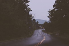 monday mourning (inbluishreverie) Tags: road travel landscape photography drive dreary dreamy winding
