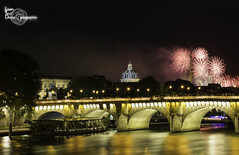 Paris Firework (Lonely Soul Design) Tags: bridge light paris reflection tower seine eiffel firework pont neuf