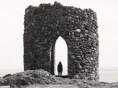 Lady's tower (iwbaird) Tags: scotland fife elie tower blackandwhite fuji finepix eastnuek buildings