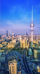 Kuwait City (khalid almasoud) Tags: kuwait city downtown leica dlux 5 buildings towers